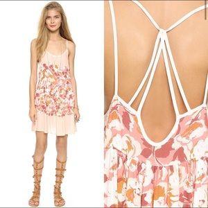 Free People floral slip dress shortie